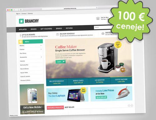 Posebna ponudba: Spletna trgovina s temo Branchy 100 € ceneje